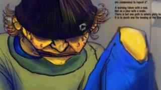 Ale Mercado illustration for Rhyme Rag Issue 1